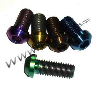 Titanium Motorcycle Bolts, Drilled Titanium Bolts, Motorcycle Ti